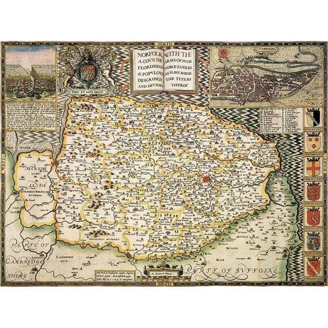 1610 Map of Norfolk Jigsaw Puzzle (1000 pieces)