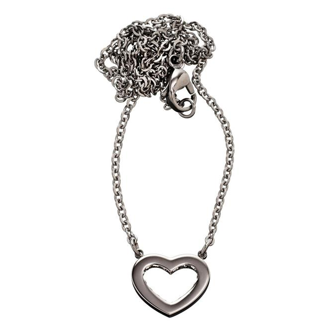 Edblad Monaco Heart Short Steel Necklace
