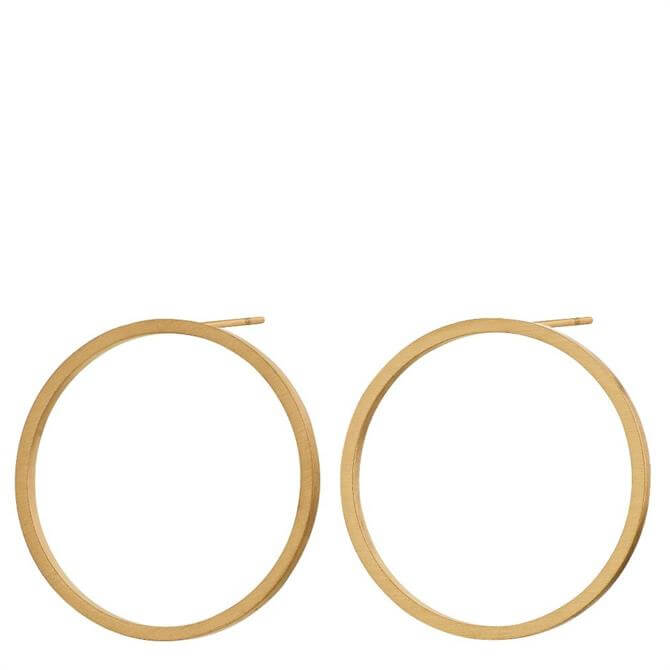 Edblad Circle Matt Gold Earrings