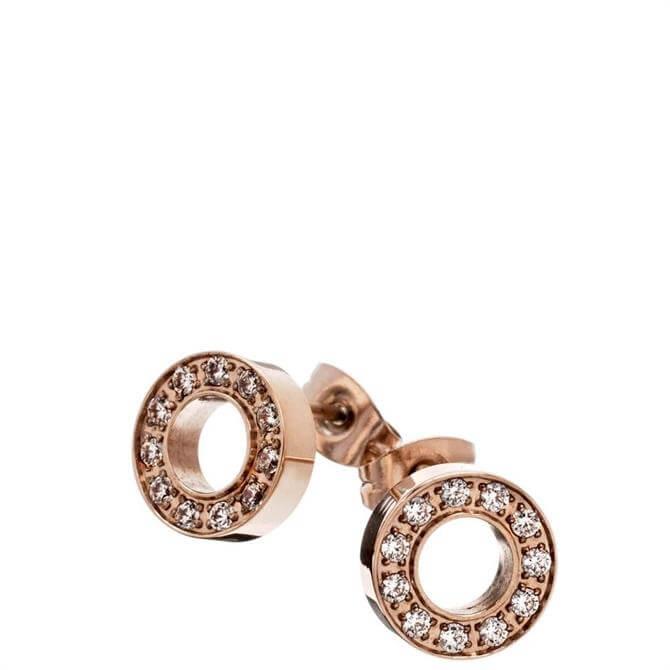 Edblad Eternity Rose Gold Stud Earrings