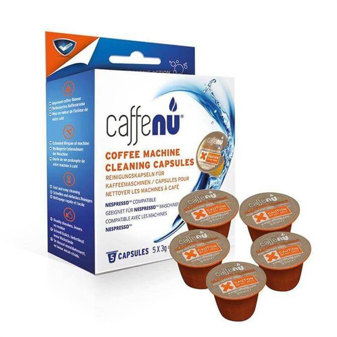 Caffe Nu Coffee Machine Cleaning Capsules: Pack of 5