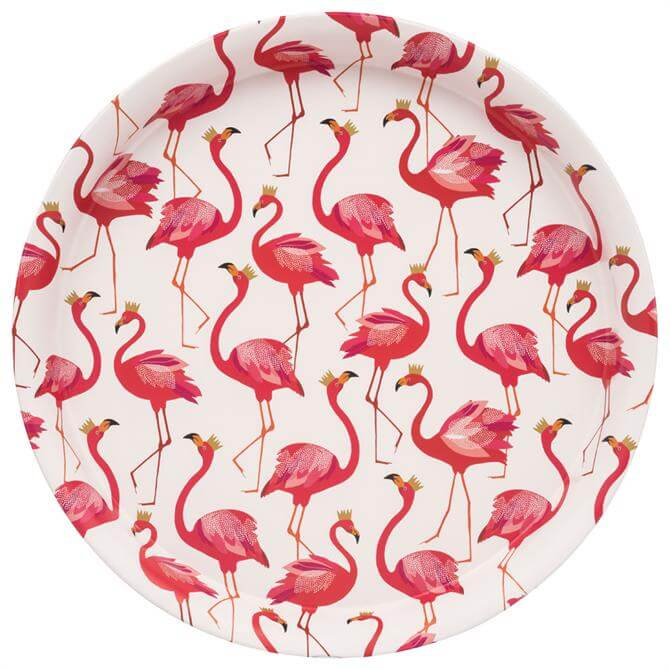 Elite Sara Miller Flamingo Round Tin Tray