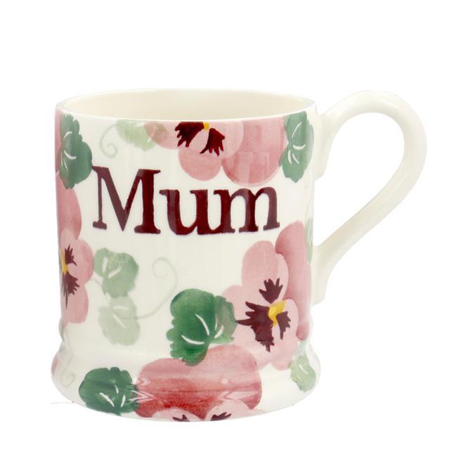 Emma Bridgewater Pink Pansy Mum 1/2 Pint Mug