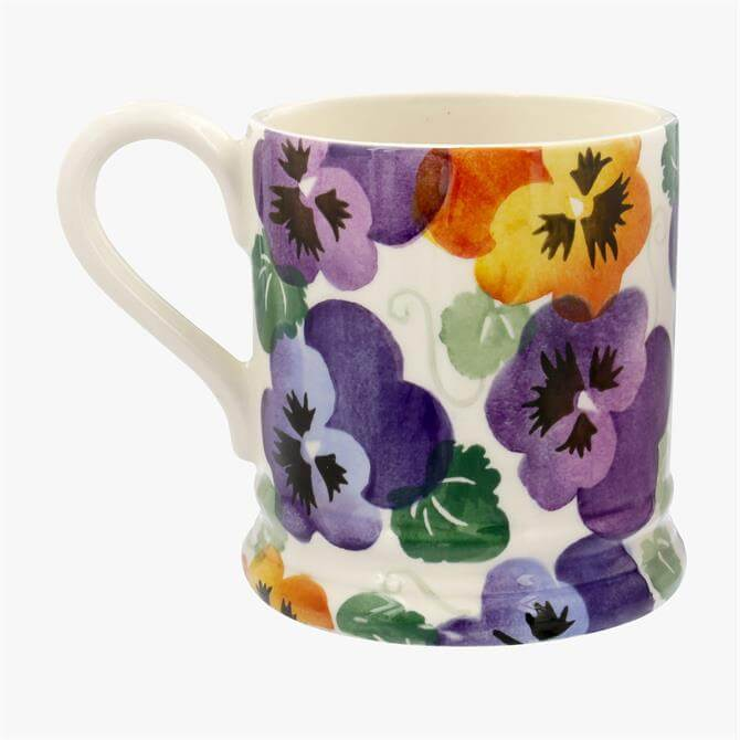 Emma Bridgewater Purple Pansy Mug: 1/2 Pint