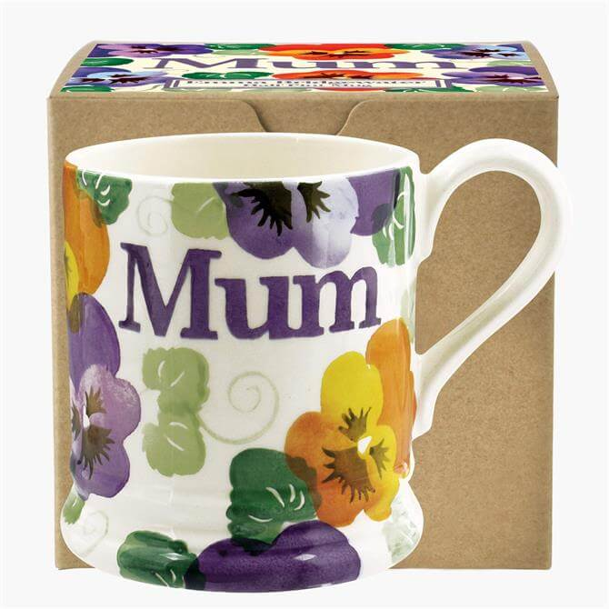 Emma Bridgewater Purple Pansy Mum Mug: 1/2 Pint