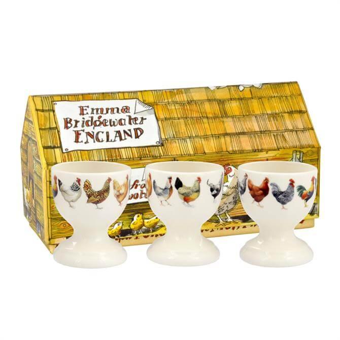Emma Bridgewater Hen & Toast Egg Cups: Set Of 3