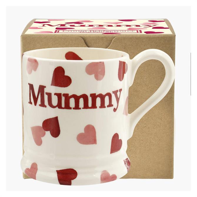 Emma Bridgewater Pink Hearts Mummy Mug: 1/2 Pint