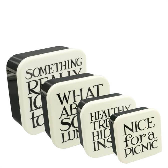 Emma Bridgewater Black Toast Set of 4 Snack Boxes