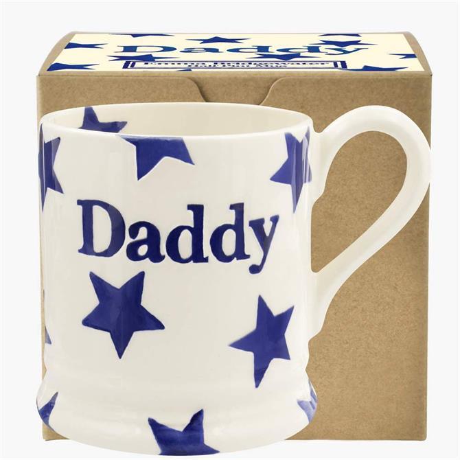 Emma Bridgwater Blue Star Daddy ½ Pint Mug