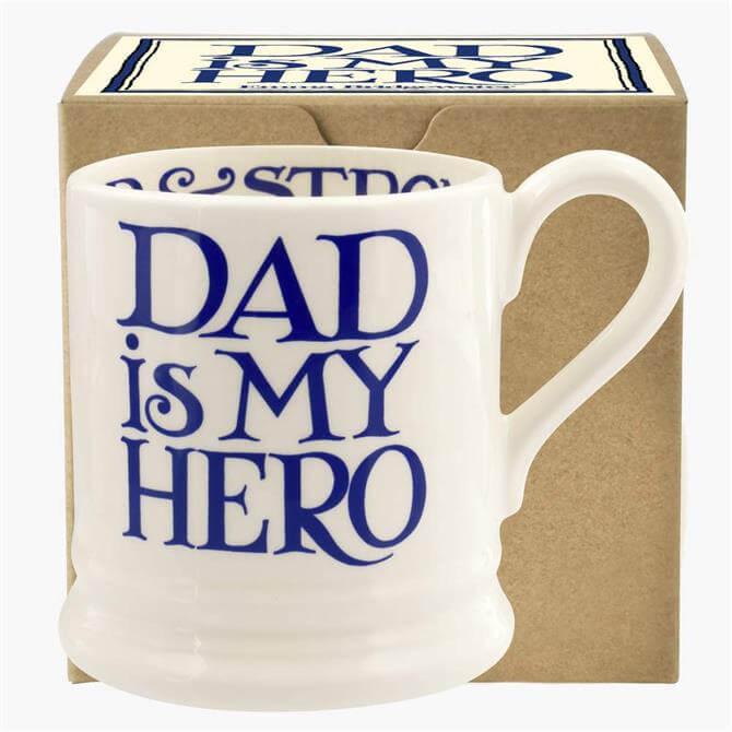 Emma Bridgewater Blue Toast Dad is my Hero ½ Pint Mug