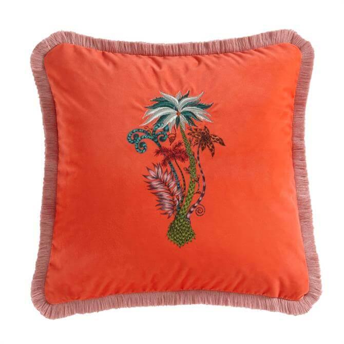 Emma J Shipley Jungle Palms Velvet Square Cushion