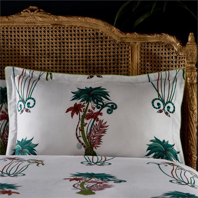Emma J Shipley Jungle Palms White Oxford Pillowcase