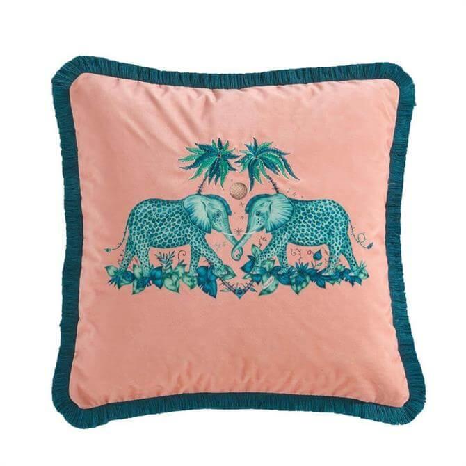 Emma J Shipley Zambezi Velvet Square Cushion