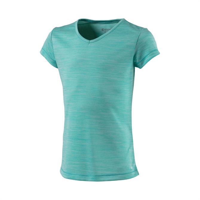 Energetics Girls Gaminel V-Neck Fitness T-Shirt - Turquoise