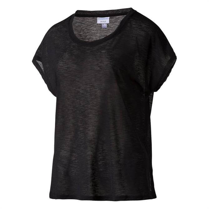Energetics Women's Galinda Fitness Short Sleeve T-Shirt- Black