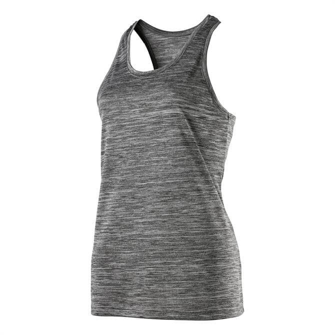 Energetics Women's Gerlinda Gym Tank Top- Black Melange