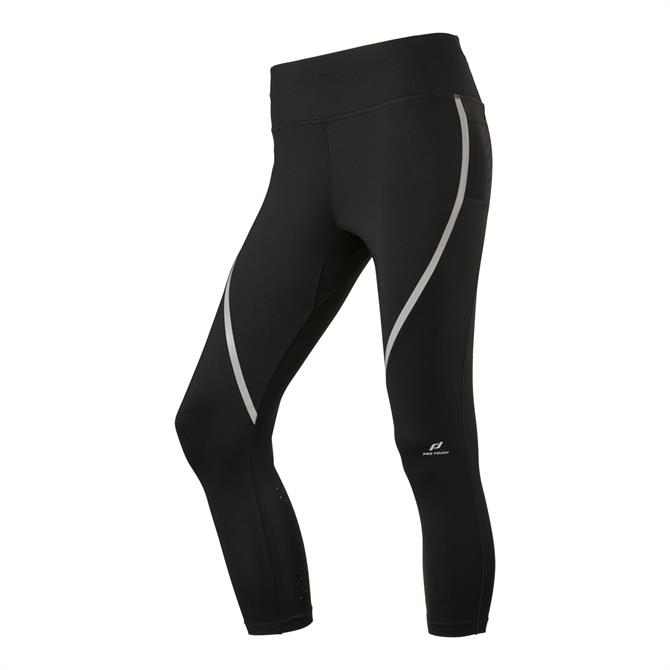 Pro Touch Women's Strike Fitness Leggings - Black/Silver