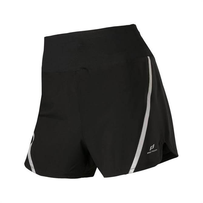 Pro Touch Women's Impa Fitness Shorts - Black/Silver