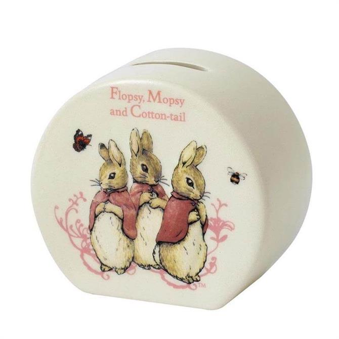 Enesco Flopsy Mopsy & Cottontail Money Bank