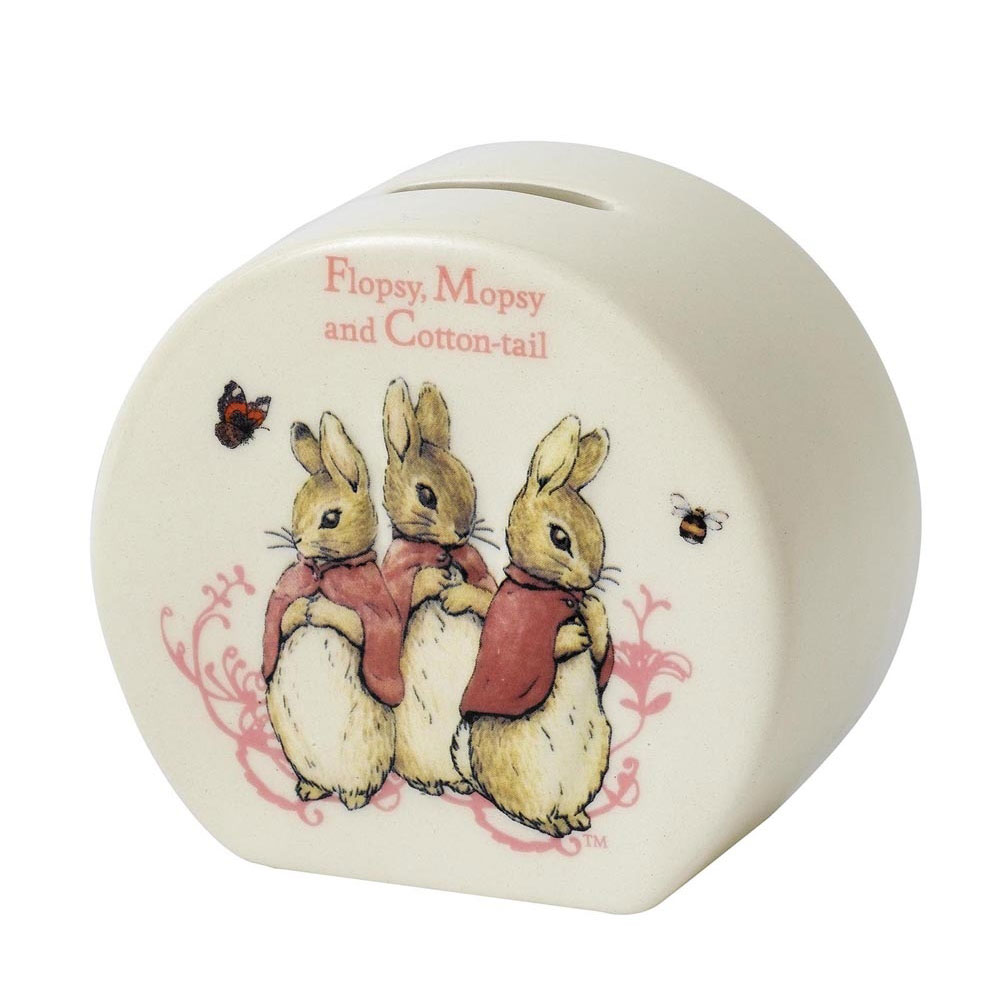 An image of Enesco Flopsy Mopsy & Cottontail Money Bank
