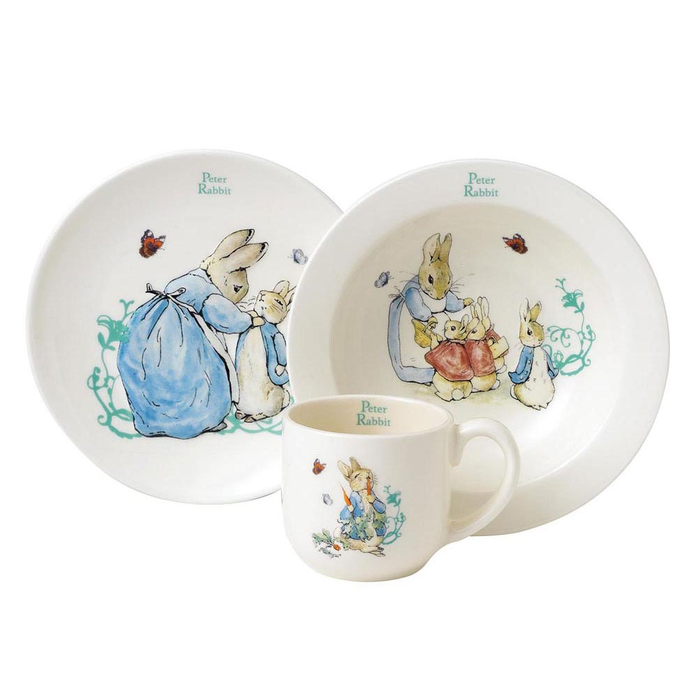 An image of Enesco Peter Rabbit Nursery Set