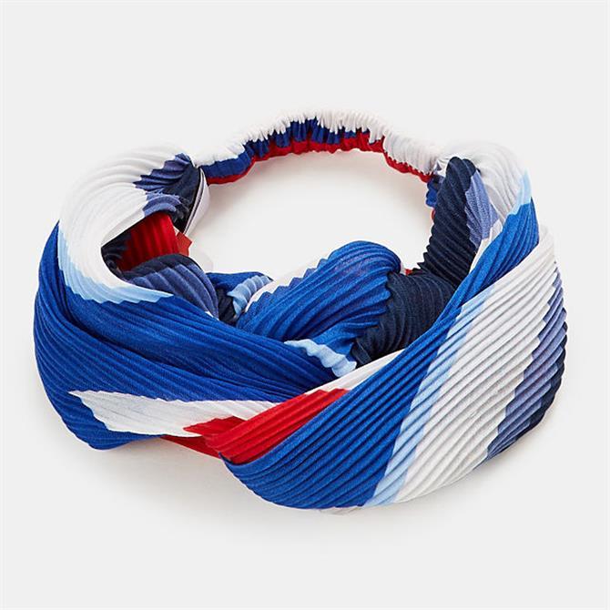 Esprit Pleated Geometric Pattern Headband