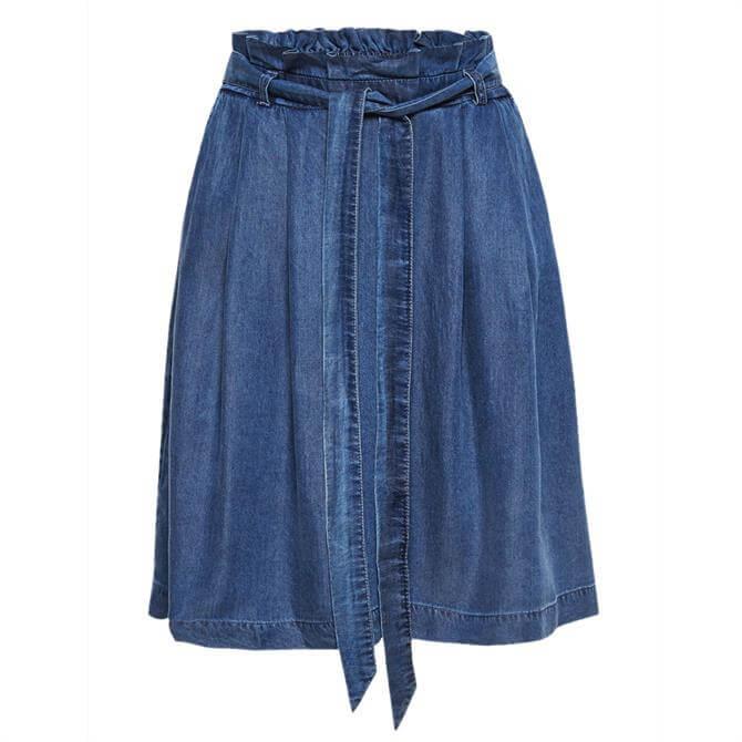 Esprit Denim Effect Paperbag Skirt