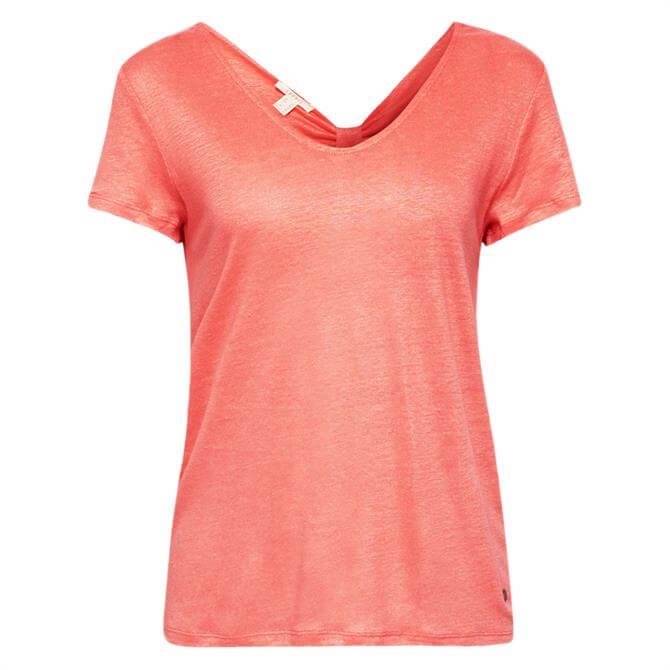 Esprit Bow Back Linen T-Shirt