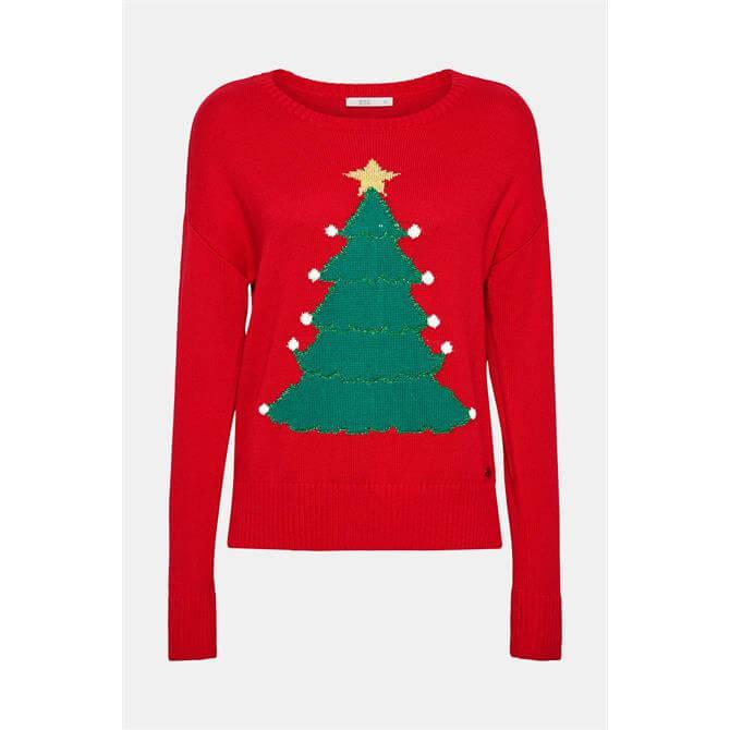 Esprit Women's Intarsia Christmas Sweater