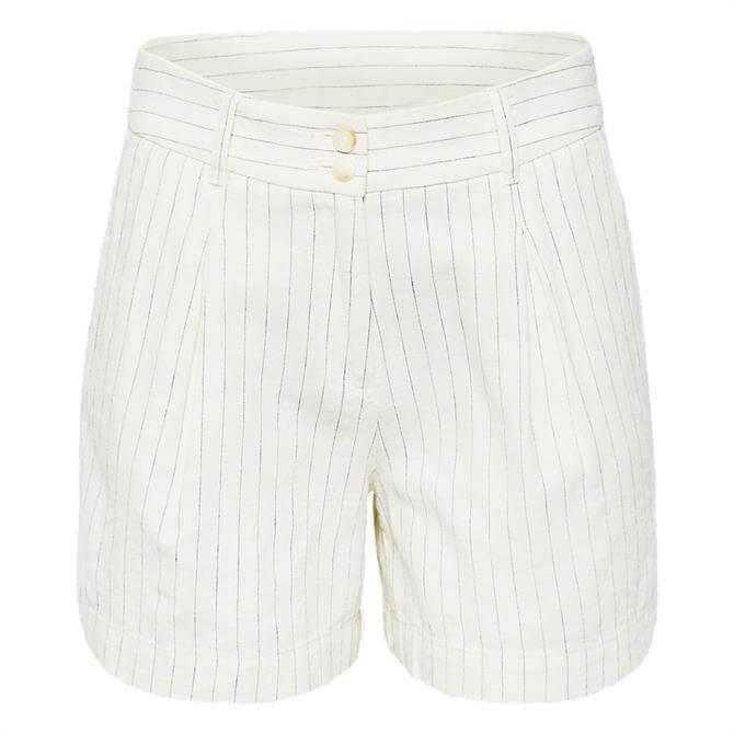 Esprit Linen Blend Pinstripe Shorts
