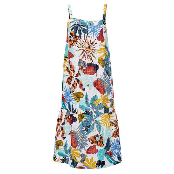 Esprit Tropical Botanical Print Strap Dress