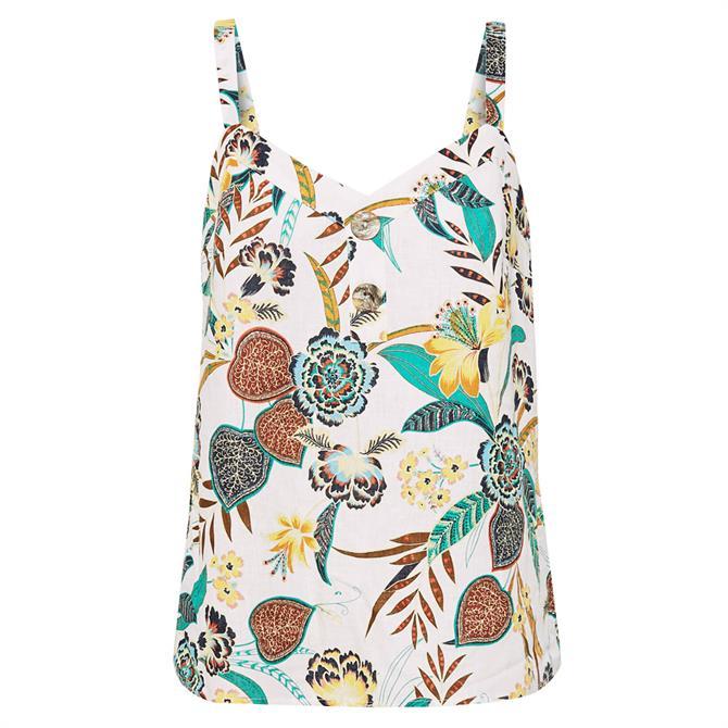 Esprit Tropical Floral Strap Top