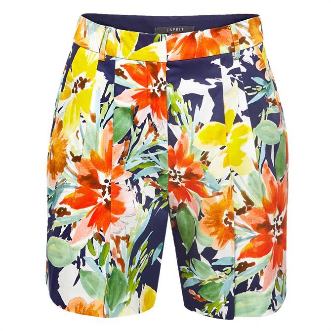 Esprit Colourful Floral Print Shorts