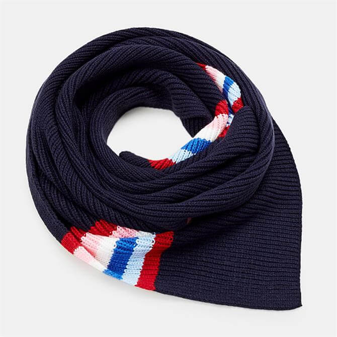 Esprit Striped Ribbed Knit Scarf
