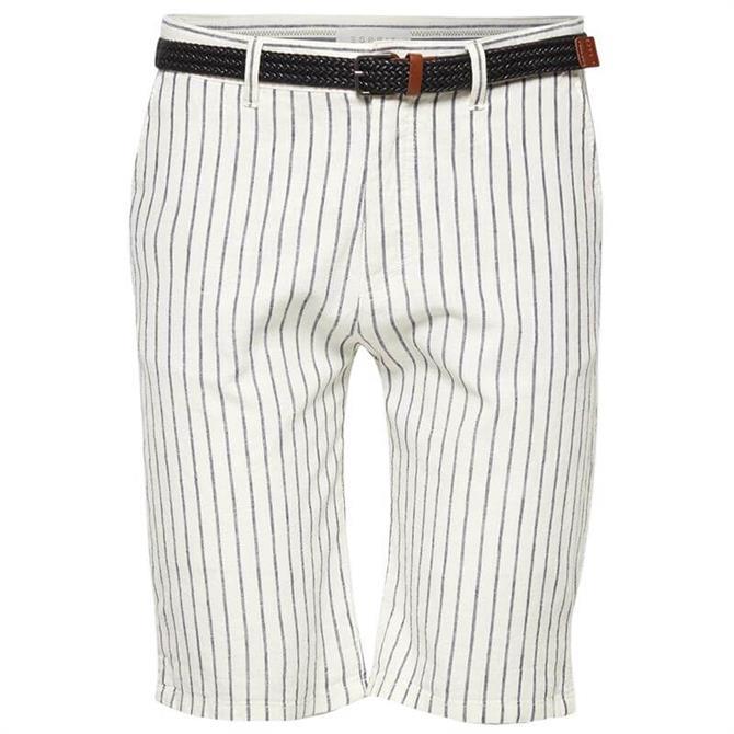Esprit Men's Striped Linen Shorts