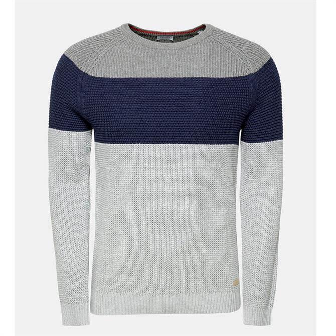 Esprit Men's Block Stripe Cotton Sweater