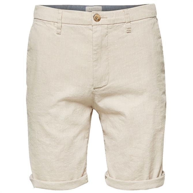 Esprit Mens Linen Blend Shorts