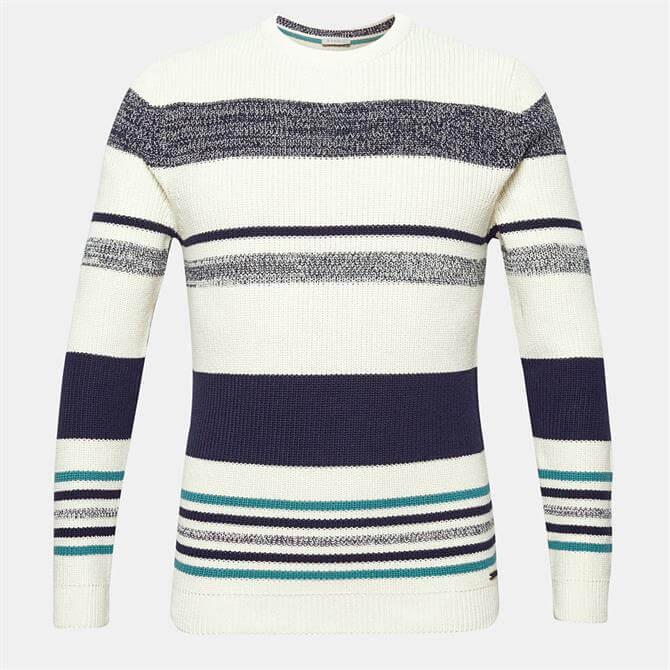 Esprit Men's Nautical Stripe Cotton Sweater