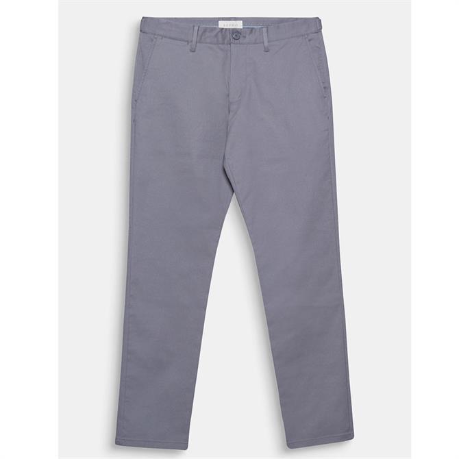 Esprit Men's Stretch Cotton Twill Slim Fit Trousers