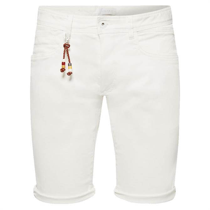 Esprit Mens Slim Fit Cotton Twill Shorts