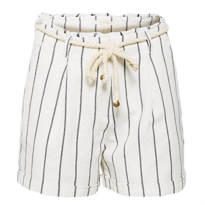 Esprit Womens Striped Smart Casual Bermuda Shorts