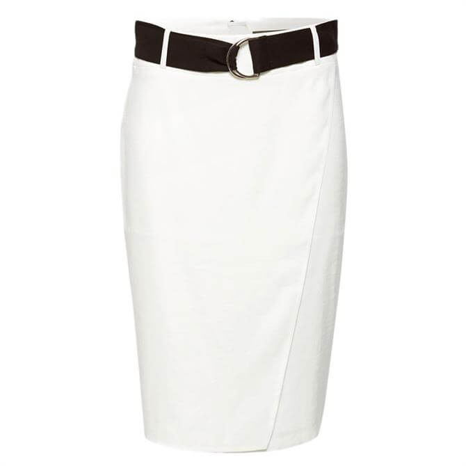 Esprit Wrap Effect Belted Pencil Skirt