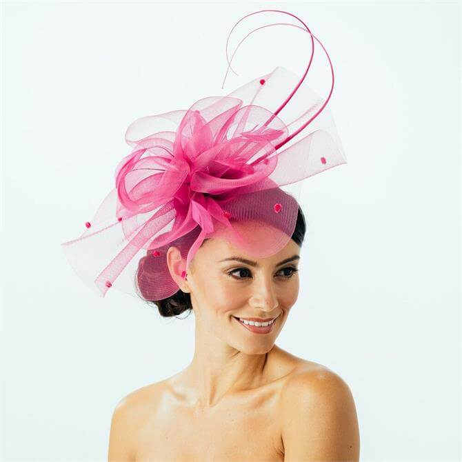 Failsworth Curled Dot & Quill Fascinator