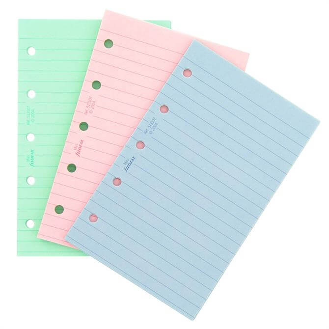 Filofax Mini Diary Coloured Rule Paper Refill