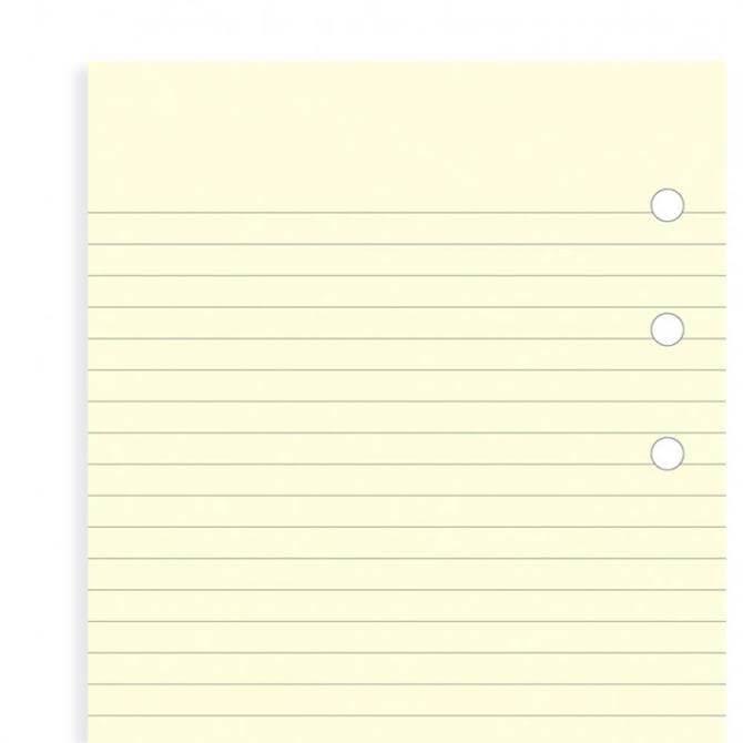 Filofax Mini Diary Cotton Cream Ruled Notepaper Refill