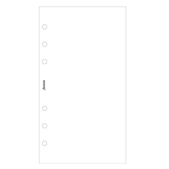 Filofax Personal Diary 100 Plain Sheets Refill