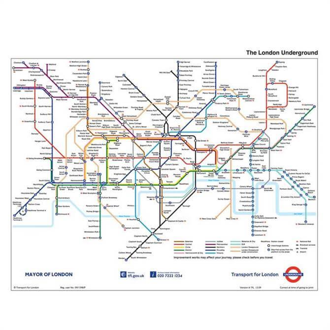 Filofax Personal Diary London Underground Map