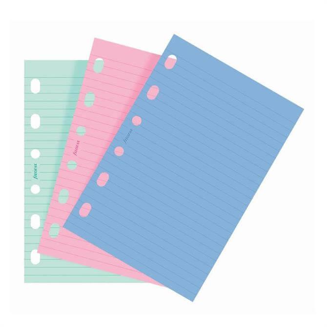 Filofax Pocket Diary Coloured Ruled Paper Refill