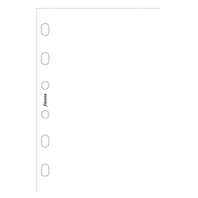 Filofax Pocket Diary White Plain Notepaper Refill