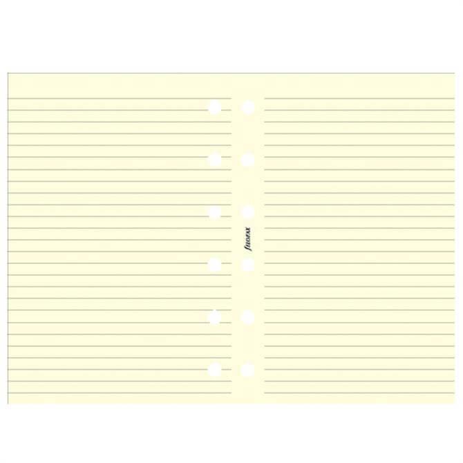 Filofax Pocket Diary Cotton Cream Ruled Notepaper Refill